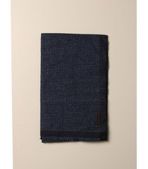 ermenegildo zegna scarf ermenegildo zegna scarf in houndstooth wool and silk