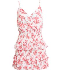 women's row a floral tiered minidress