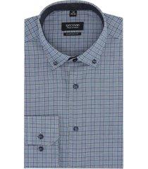 koszula bexley 2459 długi rękaw custom fit niebieski