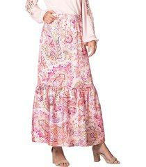 kjol amy vermont rosa::flerfärgad