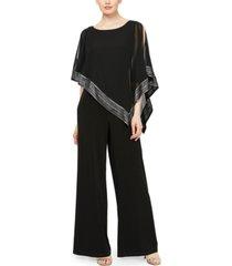 sl fashions asymmetrical cape jumpsuit