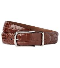 jos. a. bank crocodile embossed belt - long clearance