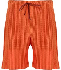 issey miyake pleated shorts