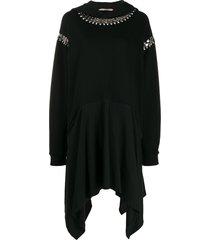 christopher kane chain hoody dress - black