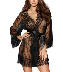 dreamgirl women's lace long-sleeved kimono robe