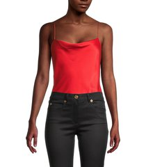 alice + olivia by stacey bendet women's harmon bodysuit - bright poppy - size l