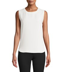 anne klein scoop neck sleeveless blouse, size small regular in anne white at nordstrom