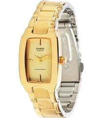 reloj casio dama modelo ltp 1165n-9c dorado  original