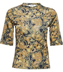 rodebjer harmony marble t-shirts & tops short-sleeved grön rodebjer