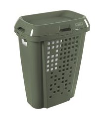 cesto de roupas 45l compartimento removível astra rb6-olv-br oliva