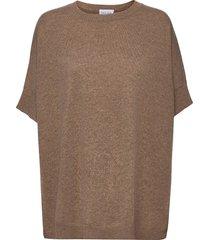 o-neck poncho vest poncho regnkläder brun davida cashmere