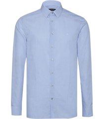camisa azul calvin klein walker c logo classic stripe