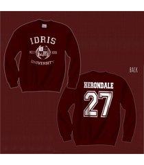 herondale 27 idris university mortal instrumen unisex crewneck sweatshirt maroon