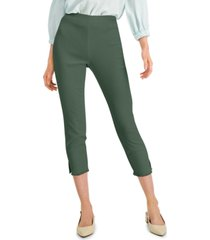 alfani petite fringed-hem ankle pants, created for macy's