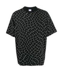 marcelo burlon county of milan camiseta com estampa gráfica - preto