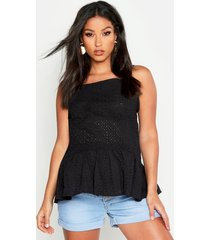 maternity broderie anglaise cami smock top, black