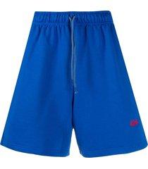 424 drawstring logo track shorts - blue