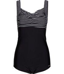 wild in stripes baddräkt badkläder svart abecita