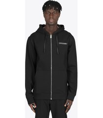 1017 alyx 9sm black hoodie with metal zip closure and chest logo