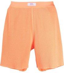 erl textured shorts - orange