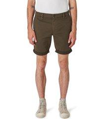 neuw denim men's cody roll cuff denim shorts, size 36 in olive green at nordstrom