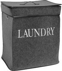 kosz na pranie filcowy laundry dark grey