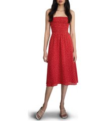 women's reformation sable smocked bodice midi dress, size x-small - red
