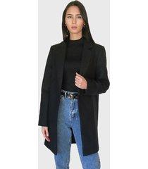 abrigo missguided negro - calce regular