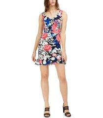 bar iii floral-print flounce dress, created for macy's