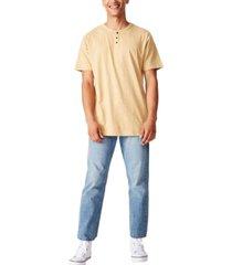 cotton on men's slub grandad t-shirt