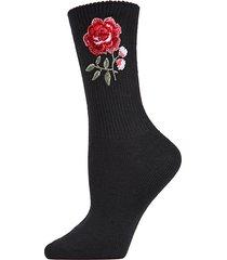 legwear rose path crew socks