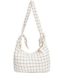 bolsa feminina knot grid - off white