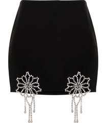 area crystal crochet skirt