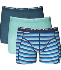bjorn borg short 3-pak basic stripe indigo