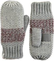 isotoner signature women's acrylic knit lurex mittens