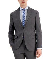 kenneth cole reaction men's techni-cole light gray suit separate slim fit jacket
