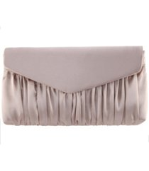 nina salome satin pleated clutch