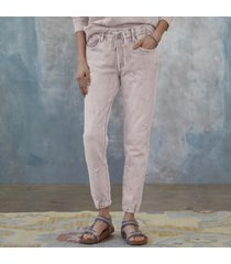 driftwood women's marbeled star joggers by sundance in gray xs