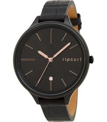 relogio rip curl alana horizon slim leather a3 feminino