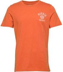 corby tee t-shirts short-sleeved orange morris