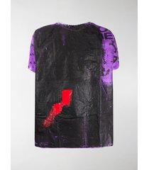 raf simons hospital gown t-shirt
