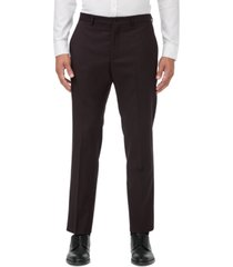 armani exchange men's modern-fit burgundy neat suit separate pants