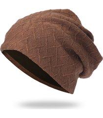 uomo donna maglia acrilica tinta unita soft berretto confortevole traspirante e multifunzionale