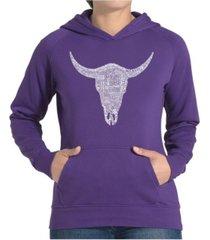 la pop art women's word art hooded sweatshirt -country music's all time hits