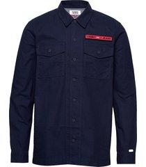 tjm velcro overshirt overshirts light jackets blauw tommy jeans