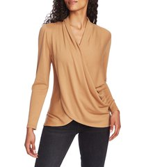 women's 1.state cozy knit top, size large - beige