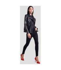 calca basic skinny high jeans escuro - 38