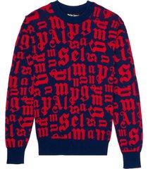 broken monogram sweater