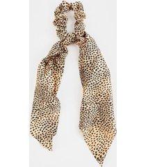whitley dot leopard print pony scarf - leopard