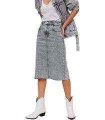 falda gris mng